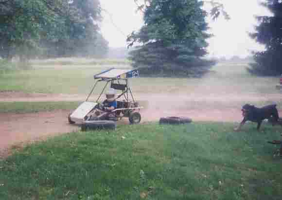 Zach and the go-kart